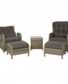 miami reclinersett easy living grå utemøbler hagemøbler