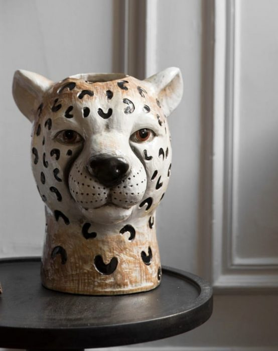cheetah vase byon design