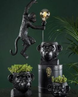 apekrukke, blomsterpotte ape alot decoration