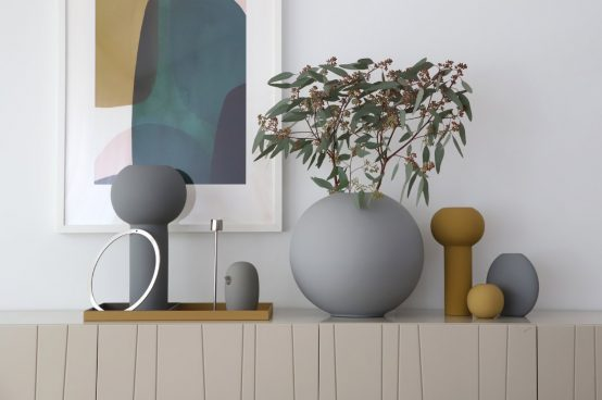 keramikk bird grey grå cooee design