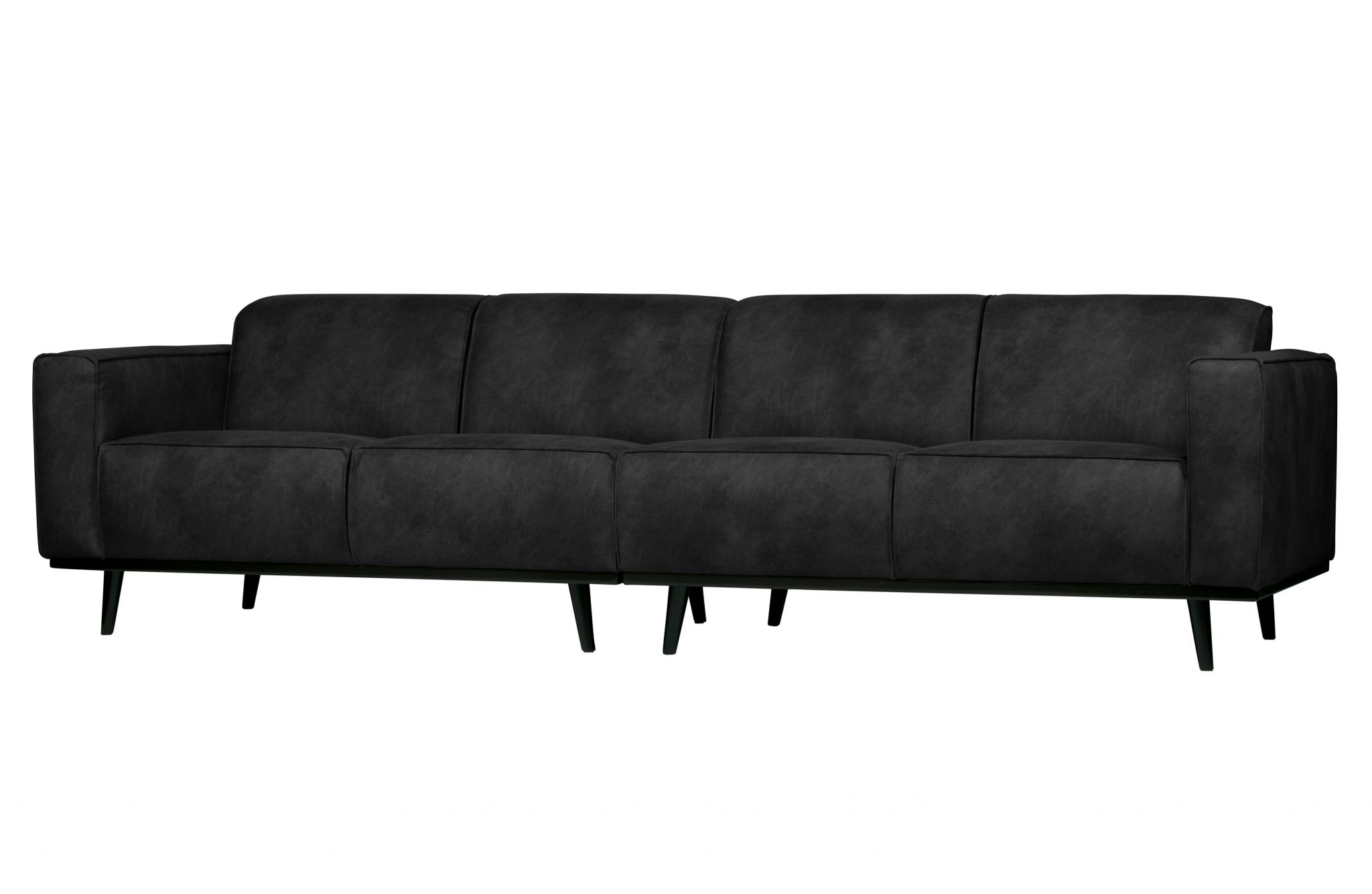 Statement 4 seter sofa , sort semsket skinn