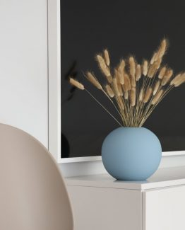 ball vase cooee design dusty blue keramikk vase