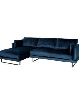 Florance sofa med sjeselong velour