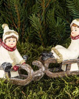barn på slede, juletrepynt, julepynt