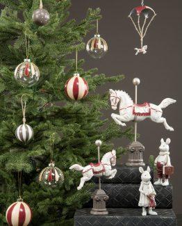 hest på stativ julepynt nostalgisk jul