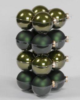 glasskule grønn juletrekule julepynt