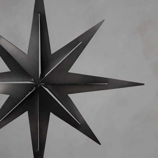 toppstjerne sort gunmetal juletrestjerne