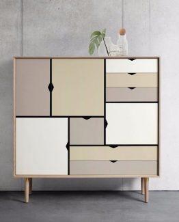 S3 B:130 Naturolje eik/ Farget Andersen Furniture