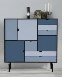 S3 B:130 Hvitolje/Blå Andersen Furniture