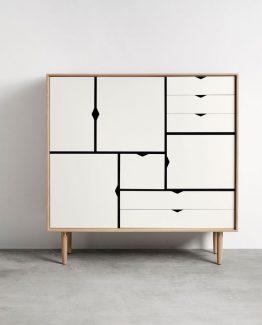 s3 hvit eik andersen furniture skap skjenk kommode