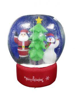 Oppblåsbar snøkule snowglobe med led lys utendørsbelysning julelys