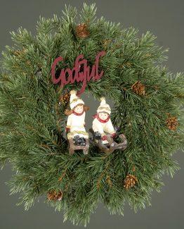 barn på slede juletrepynt