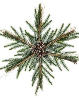 julekrans adventskrans snøfnugg alot decoration julepynt gran kongler