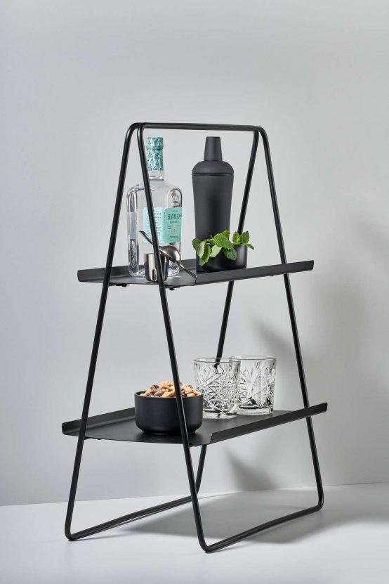 Zone, dansk design, nordisk design, minimalistisk hylle, hylle, reol, a-collection, svarrt stål