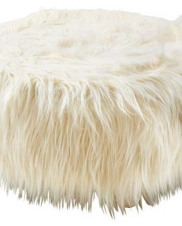 Villa Collection, puff, fuskepels, hvit puff, nordisk stil, bondestil, til utestua
