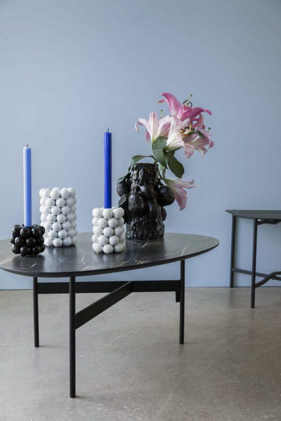 Lysestake globe candle holder byon design