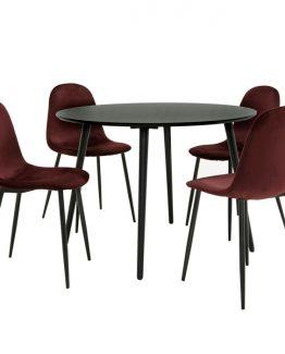 sort rundt spisebord iben spisebord martinsen