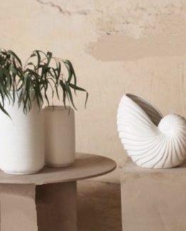 Mariella Skjell vase Martinsen korall
